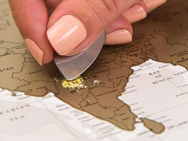 Scratchable Travel Map