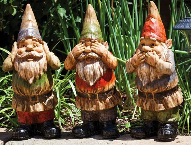 See No Evil, Hear No Evil & Speak No Evil Gnomes Set