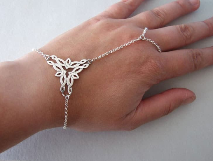Silver Elvish Slave Bracelet