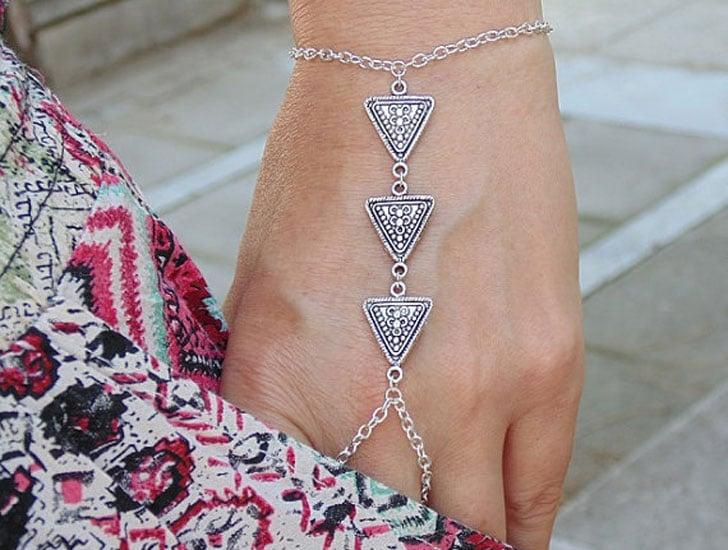 Silver Triangle Slave Bracelet
