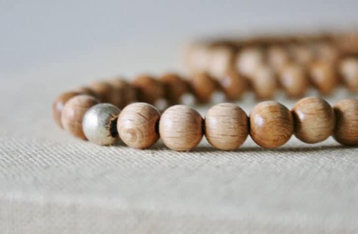 Simple Maple Mala Necklace