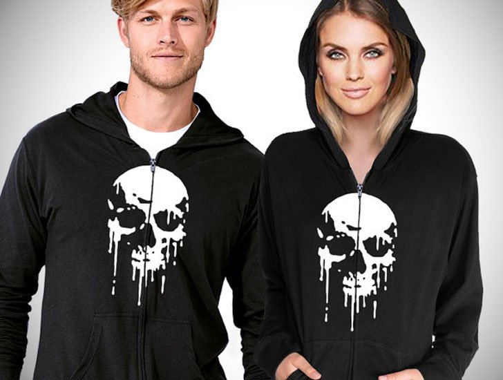 Skull Hoodies for Him and Her