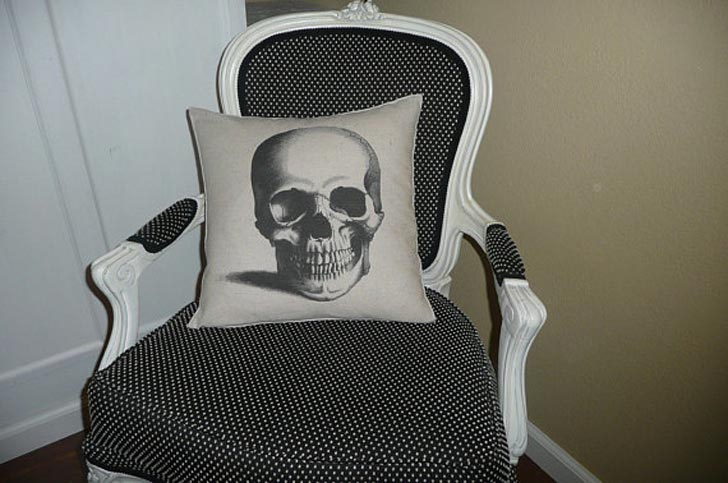 Skull Pillow Cover