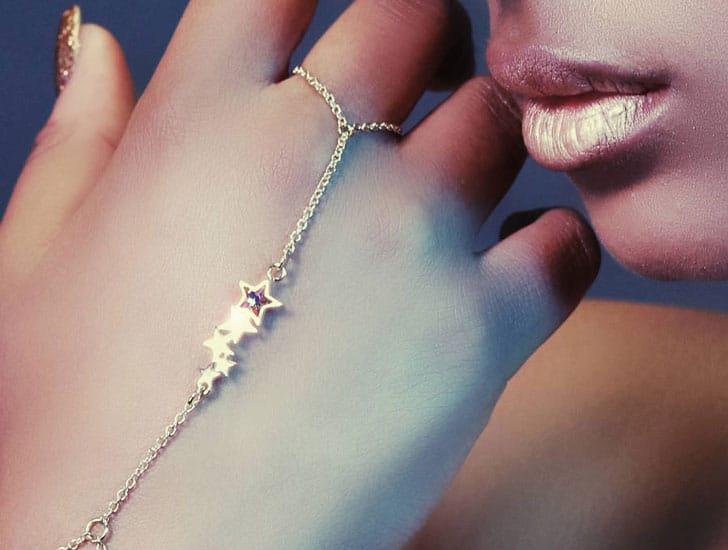Star Ring To Wrist Bracelet