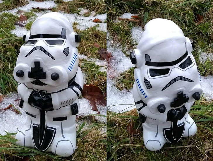 Storm Trooper Garden Gnome