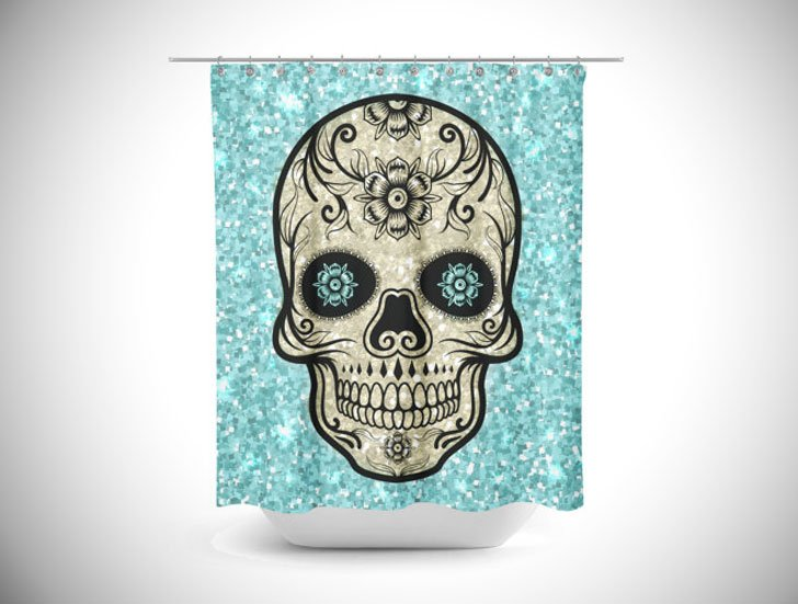 Sugar Skull Shower Curtains