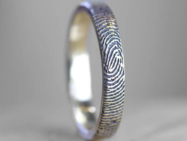 The Slender Morgan & French Fingerprint Ring