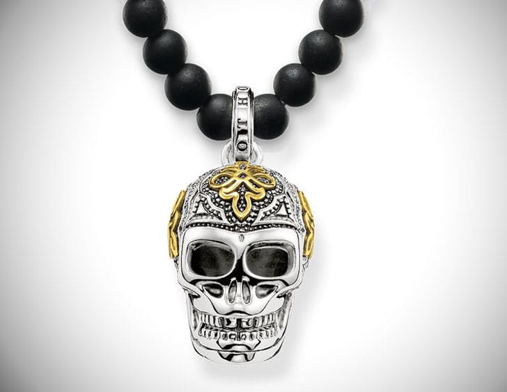 Thomas Sabo Beaded Skull Necklace - Beaded Necklaces For Men