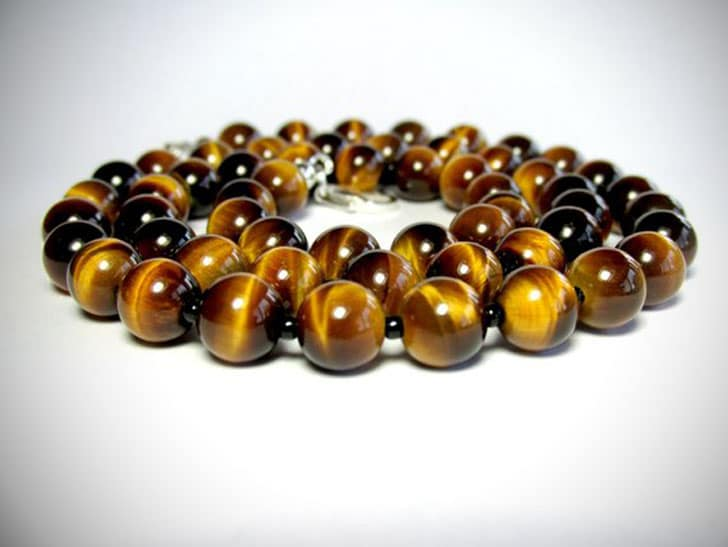 Tiger Eye Gemstone Necklace - Beaded Necklaces For Men