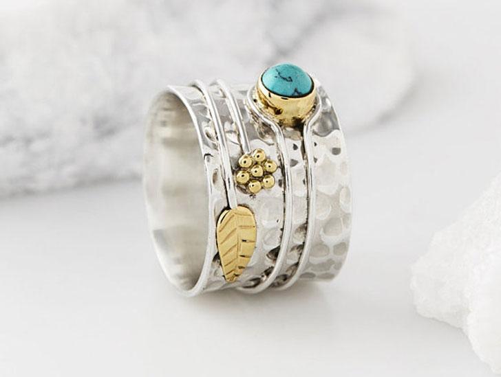 Turquoise Bohemian Thumb Rings
