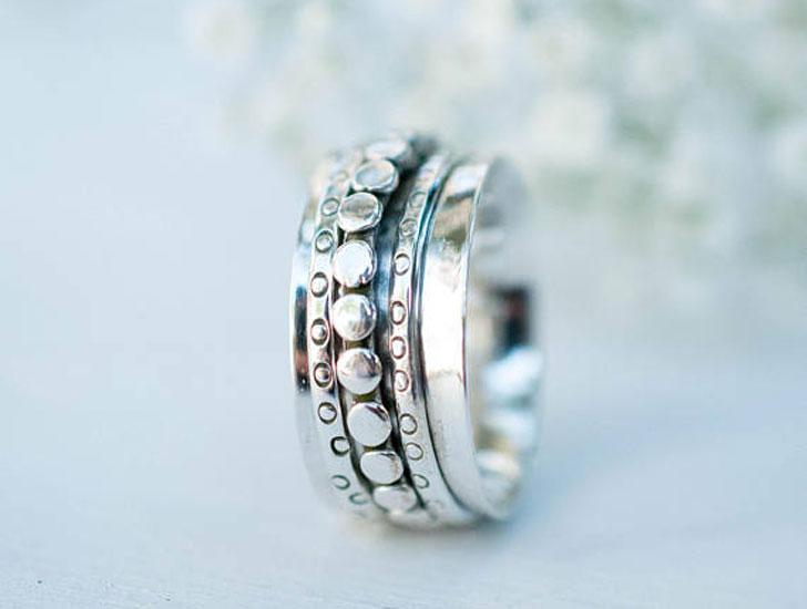 Unisex Spinner Thumb Rings For Couples