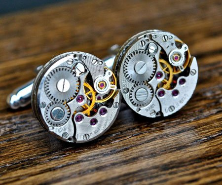 Watch Movement Steampunk Cufflinks