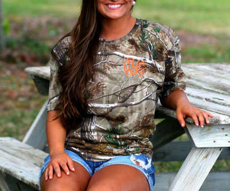 Women's Monogram Camo Hunting Shirt