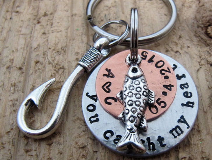 You Caught My Heart Keychain