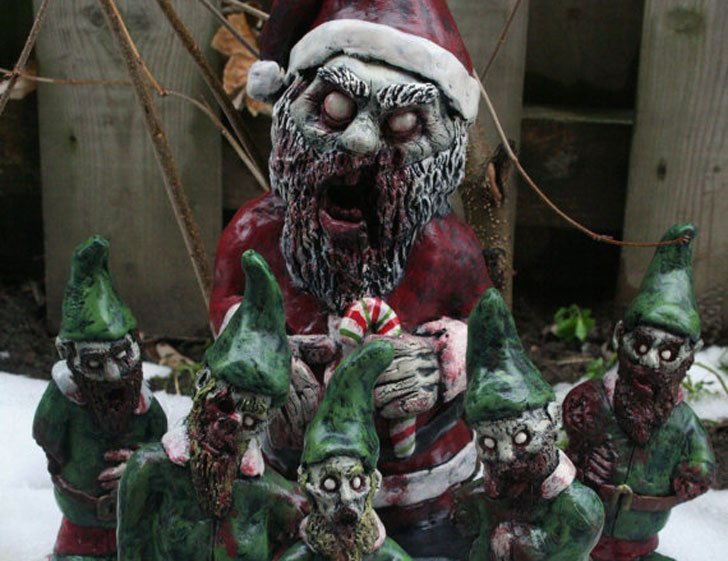 Zombie Santa Corpse and The Infected Elves Zombie Gnomes