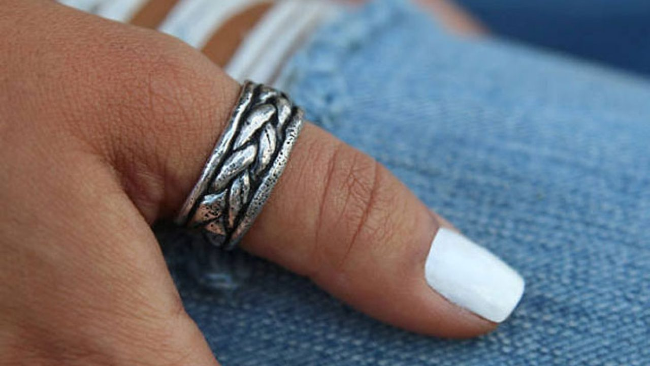 Sterling Silver /& Copper Chunky Textured Heart Ring