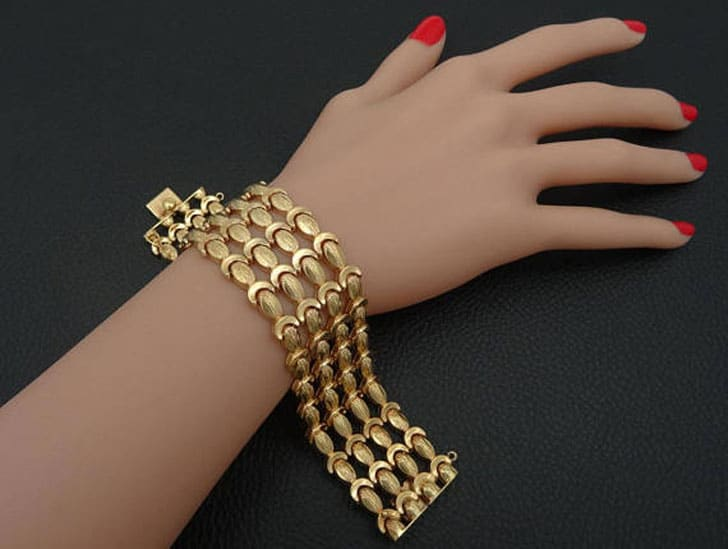 18K Solid Yellow Gold Wedding Bracelet