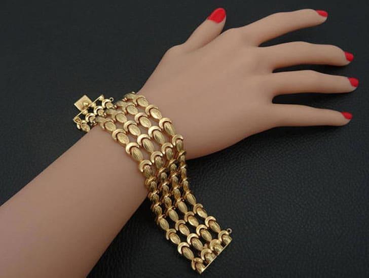 18K Solid Yellow Gold Wedding Bracelet