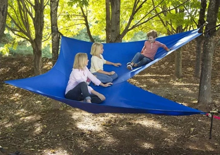 Aerial Double Tree Hammock