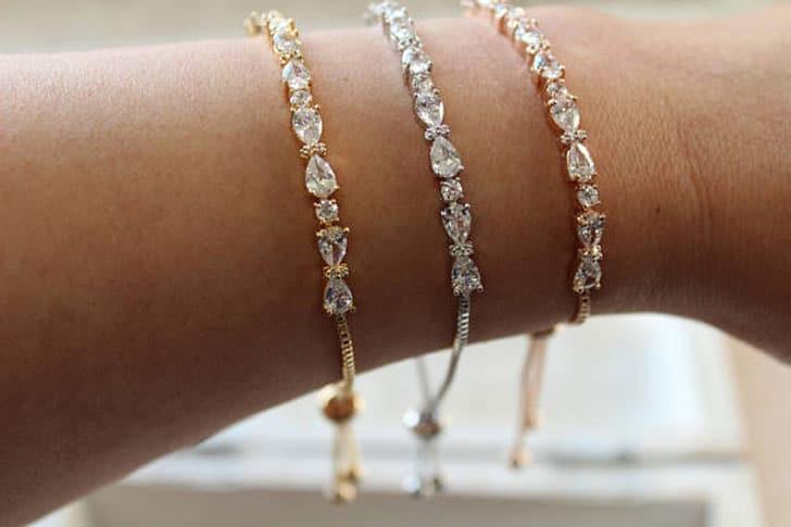 Art Deco Style Bridesmaid Bracelets - wedding bracelets
