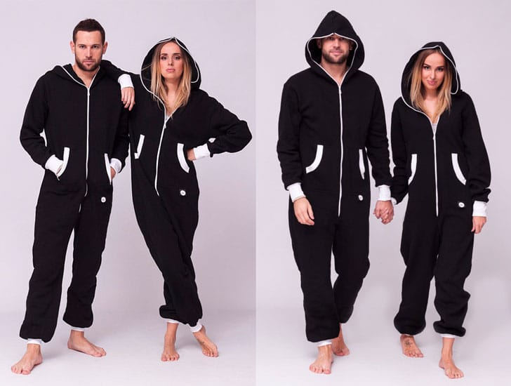 Black Adult Onesie Pyjamas