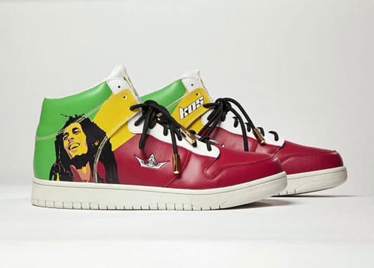 Bob Marley Rasta Reggae Sneakers