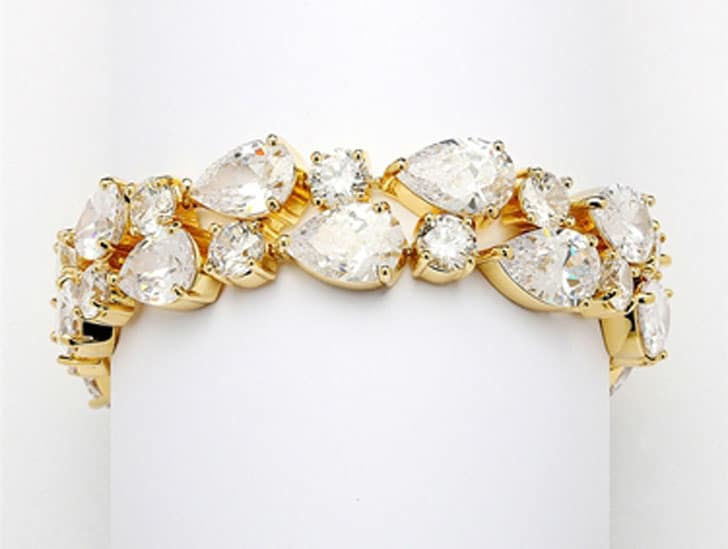 Bridal Statement Bracelet in Gold