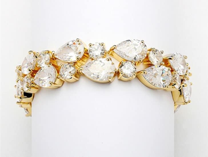 Bridal Statement Bracelet in Gold