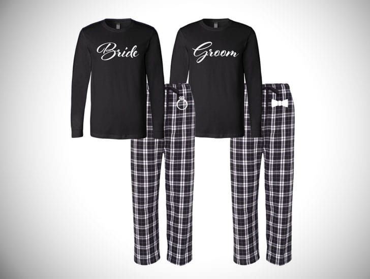 Bride and Groom Matching Couples Pajamas