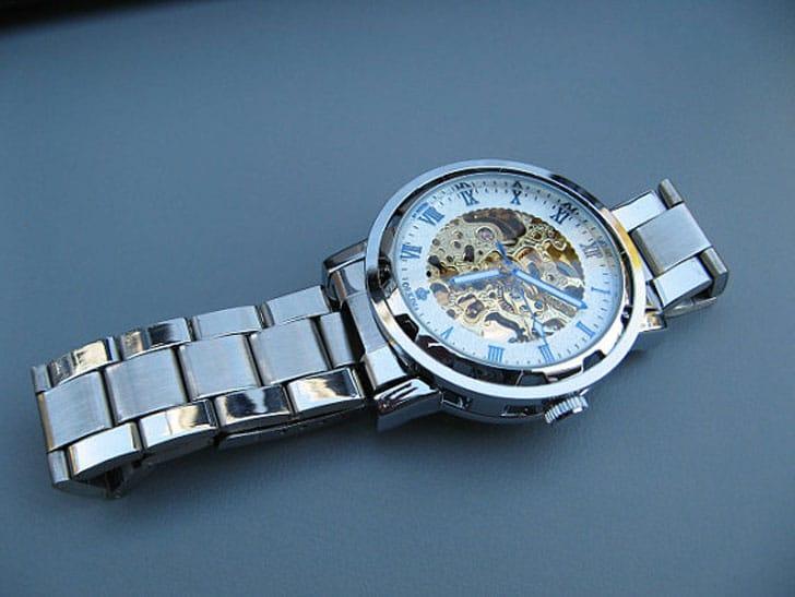 Classic Steampunk Mechanical Wrist Watch