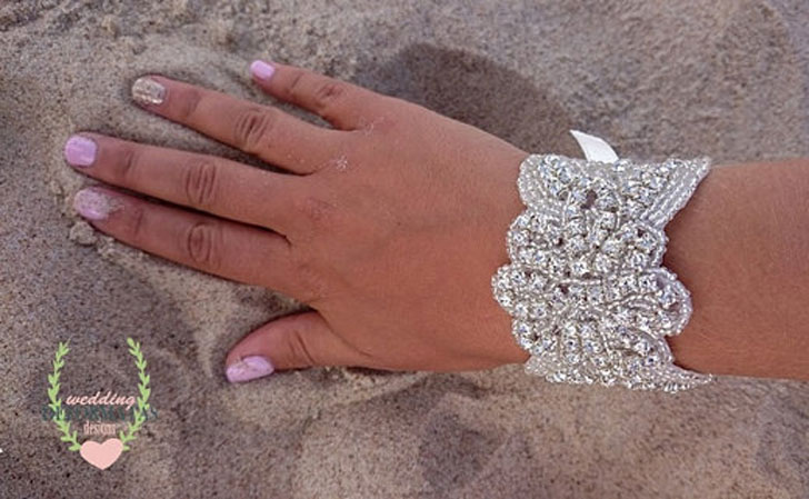 Couture Crystal Bridal Cuff
