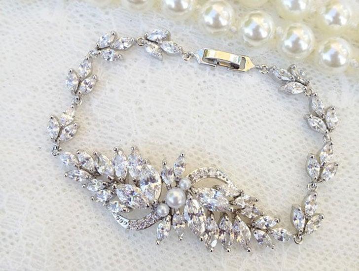 Crystal Marquise Bridal Bracelet