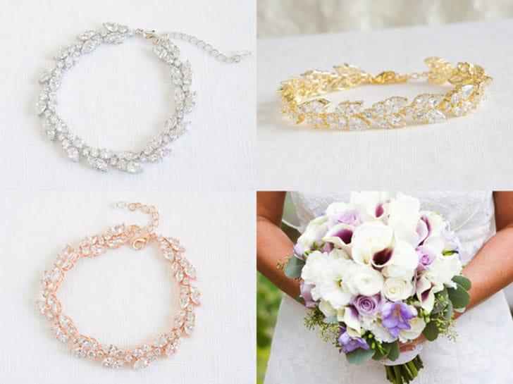 Crystal Rose Gold Bridal Bracelet