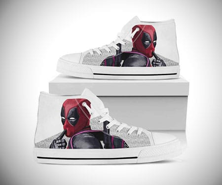 Custom Converse Deadpool Sneakers