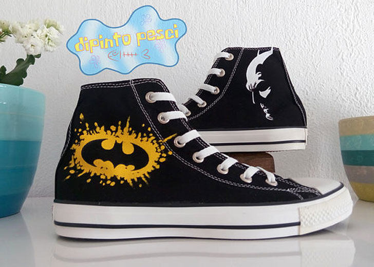 Custom Hand Painted Batman Shoes