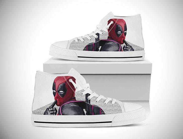 Deadpool High Top Converse Shoes