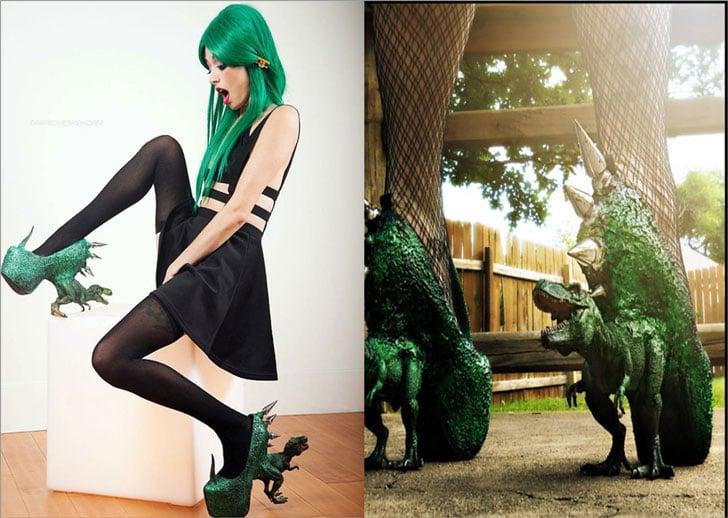 Dinosaur Spike Heels