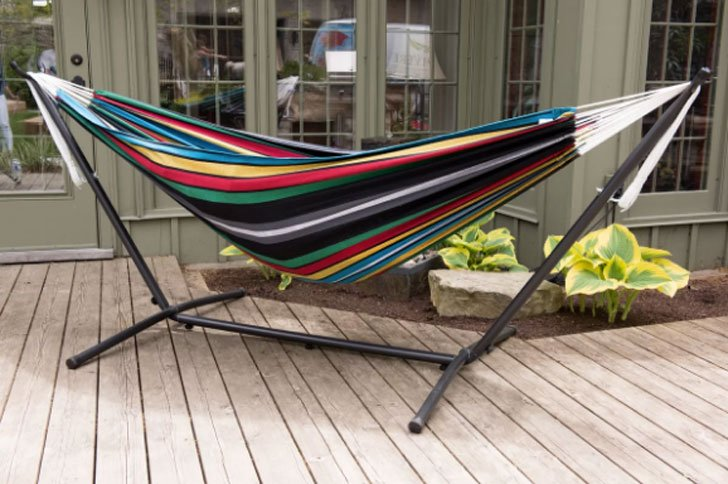 Dorinda Double Hammock with Stand