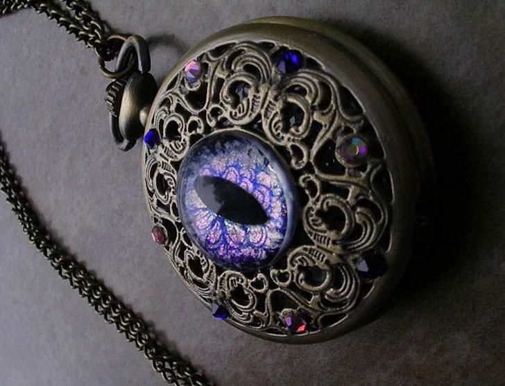 Dragon Eye Steampunk Pocket Watch