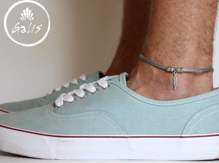 Feather Charm Anklet