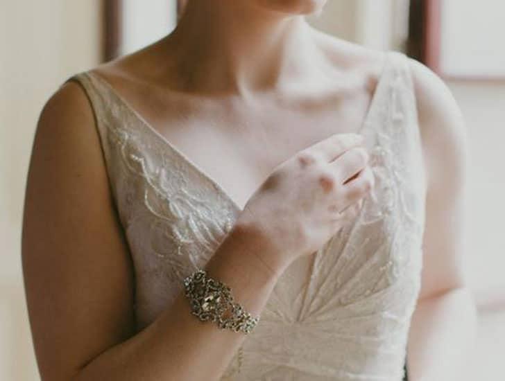 Filigree Style Silver Wedding Bracelet