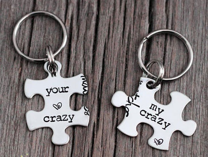 Funny Couples Key Rings