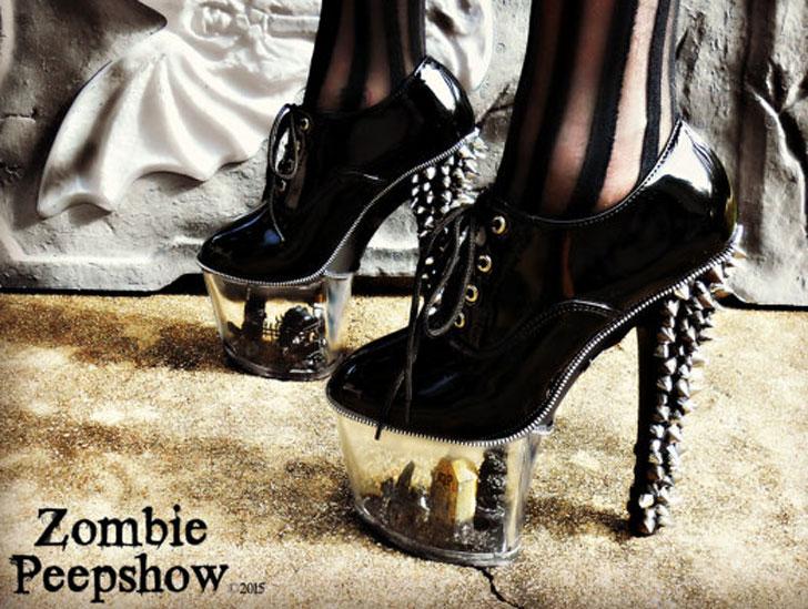 Goth Spike Graveyard Heels