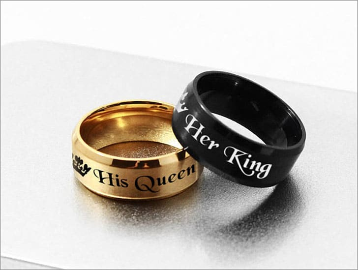 His Queen Her King Ring Set