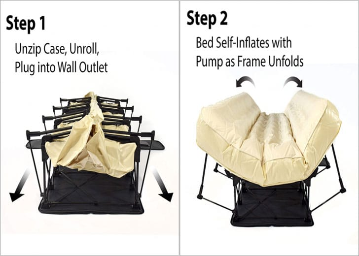 Ivation Self-Inflatable Blow Up Bed