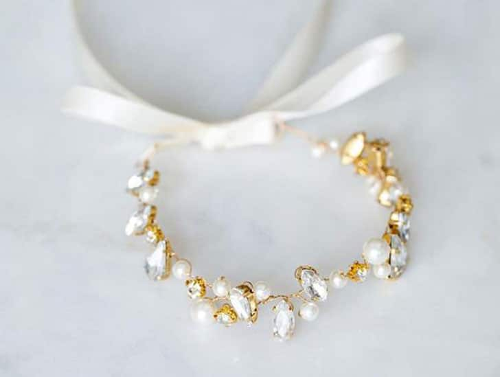 Ivory Pearl Wedding Cuff Bracelet
