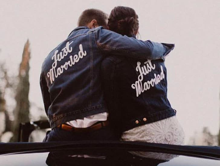 Just Married Patch for Jacket