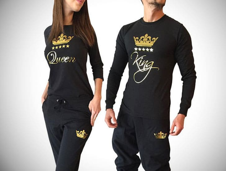 King and Queen Couples Pajama Set