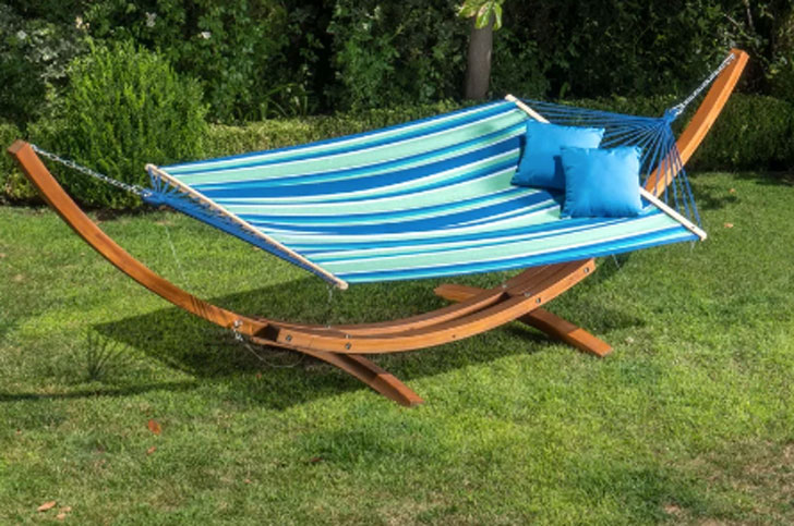Kouklia Double Hanging Chaise Lounger Hammock