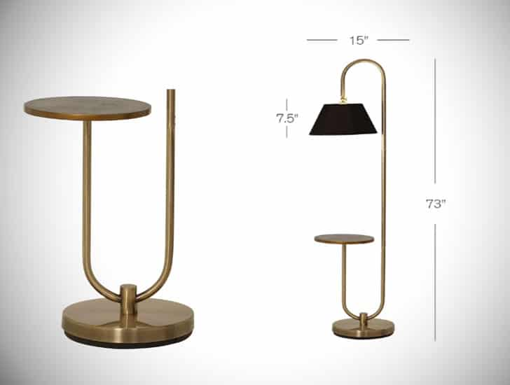 "Lafever 73"" Arched Floor Lamp"